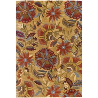 Botanique Layla/ Gold Wool Rug (8' x 10')