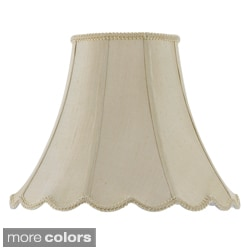 Cal Lighting 18-Inch Vertical Piped Scallop Bell Shade