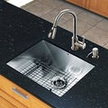 VIGO All-in-one 23-inch Undermount Steel Sink and Chrome Faucet Set