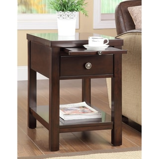 Cappuccino Hardwood Side Table