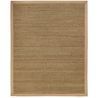 Sandpiper Seagrass Rug with Khaki Cotton Border (4' x 6')