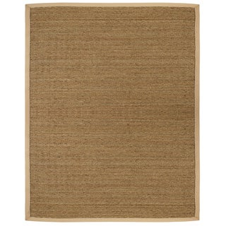 Tidewater Herringbone Seagrass Rug with Khaki Cotton Border (3' x 5')