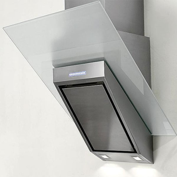 NT AIR Stainless Steel White Glass 24-inch Range Hood KA-146-WTG 10655548