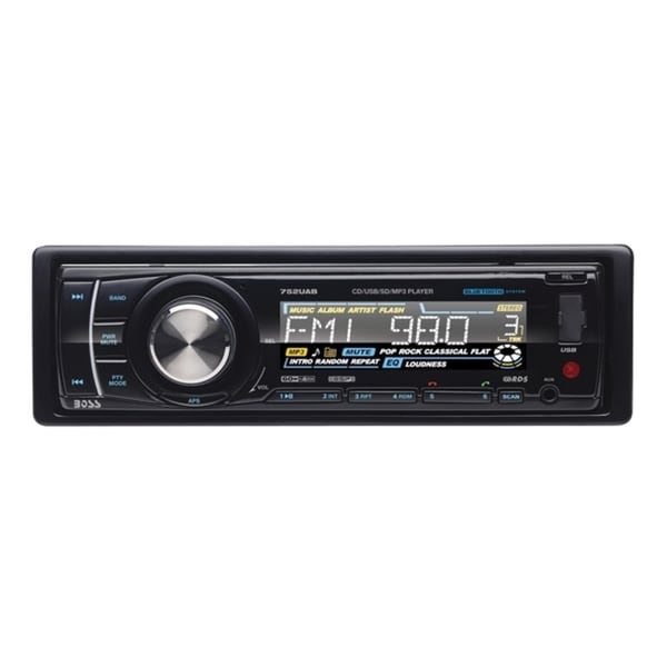 Boss In-Dash Single-DIN with Detachable Front Panel Bluetooth MP3 Pla (As Is Item)
