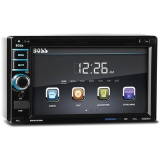 "Boss In-Dash Double-DIN 6.2"" Touchscreen Monitor Bluetooth DVD Player"