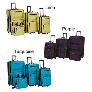 Rockland Fashion Colors 4-piece Expandable Luggage Set