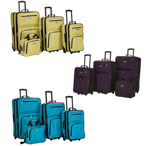 Rockland Fashion Colors 4-piece Expandable Luggage Set