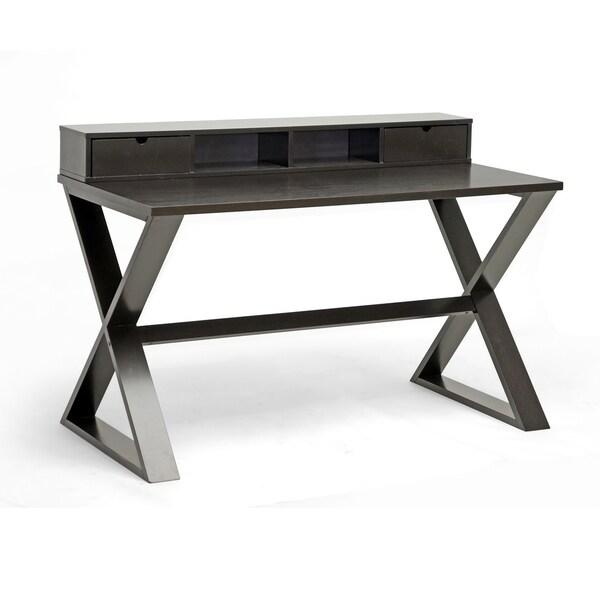 Baxton Studio Fargo Dark Brown Modern Writing Desk
