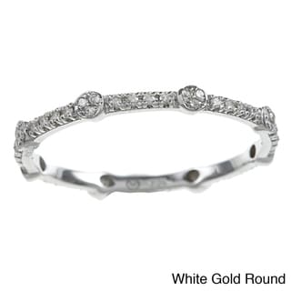 Beverly Hills Charm 10k Gold 1/6ct TDW Diamond Stackable Eternity Band (H-I, I2)