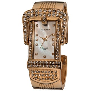 Akribos XXIV Women's Classic Quartz Diamond Bangle Watch