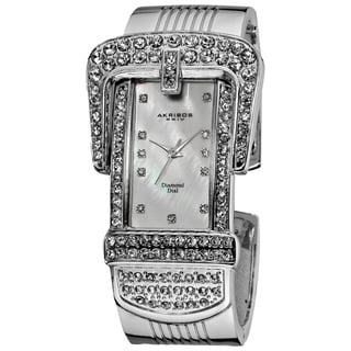Akribos XXIV Women's Quartz Diamond Bangle Watch