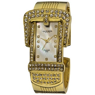 Akribos XXIV Women's Traditional Quartz Diamond Bangle Watch