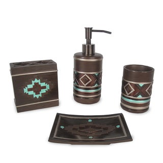Veratex Pueblo Bath Accessory 4-piece Set