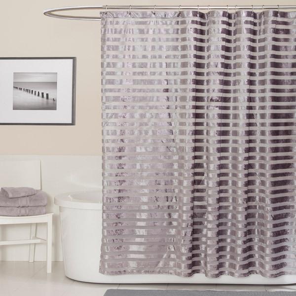 Lush Decor Royal Tide Grey Shower Curtain