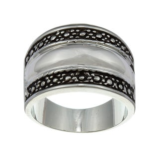City Style Silvertone Designer-inspired Ring
