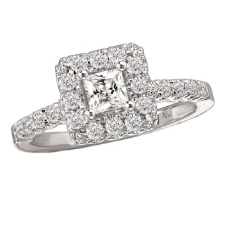 14k White Gold 3/4ct TDW Princess Diamond Engagement Ring (G-H, SI1-SI2)