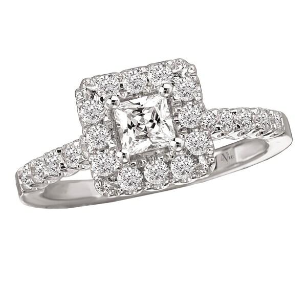 Avanti 14k White Gold 3/4ct TDW Princess Diamond Engagement Ring (G-H, SI1-SI2)