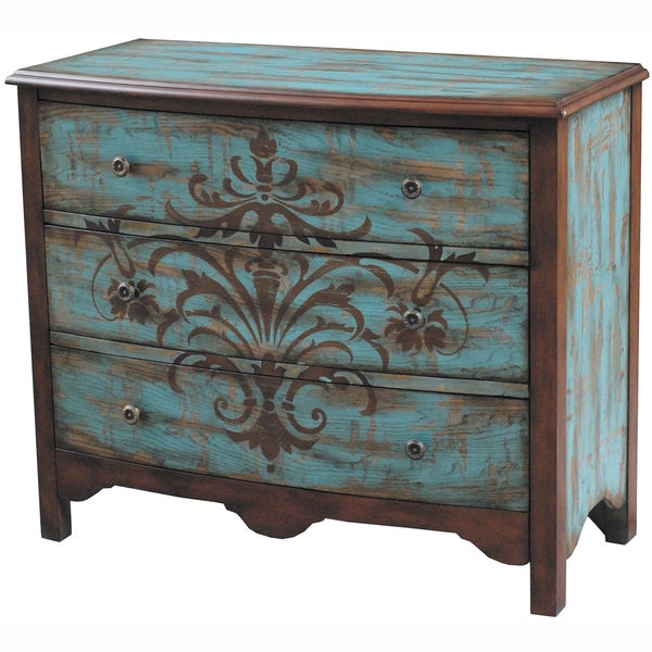 Hand painted Distressed Walnut and Blue Finish Accent  : Hand painted Distressed Walnut and Blue Finish Accent Chest 7618929c 0f94 4ea1 a356 d63034d17789600 from www.overstock.com size 600 x 600 jpeg 79kB