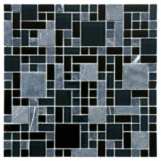 Somertile 12x12 Reflections Versailles Bizancio Glass/ Stone Mosaic Tile (Pack of 10)