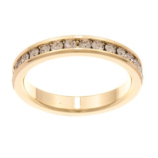 City Style Goldtone Clear Cubic Zirconia Eternity Band