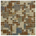 Somertile 12x12 Reflections Versailles Brixton Glass/ Stone Mosaic Tiles (Pack of 10)