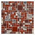 Somertile 12x12 Reflections Versailles Bordeaux Glass/ Stone Mosaic Tiles (Pack of 10)