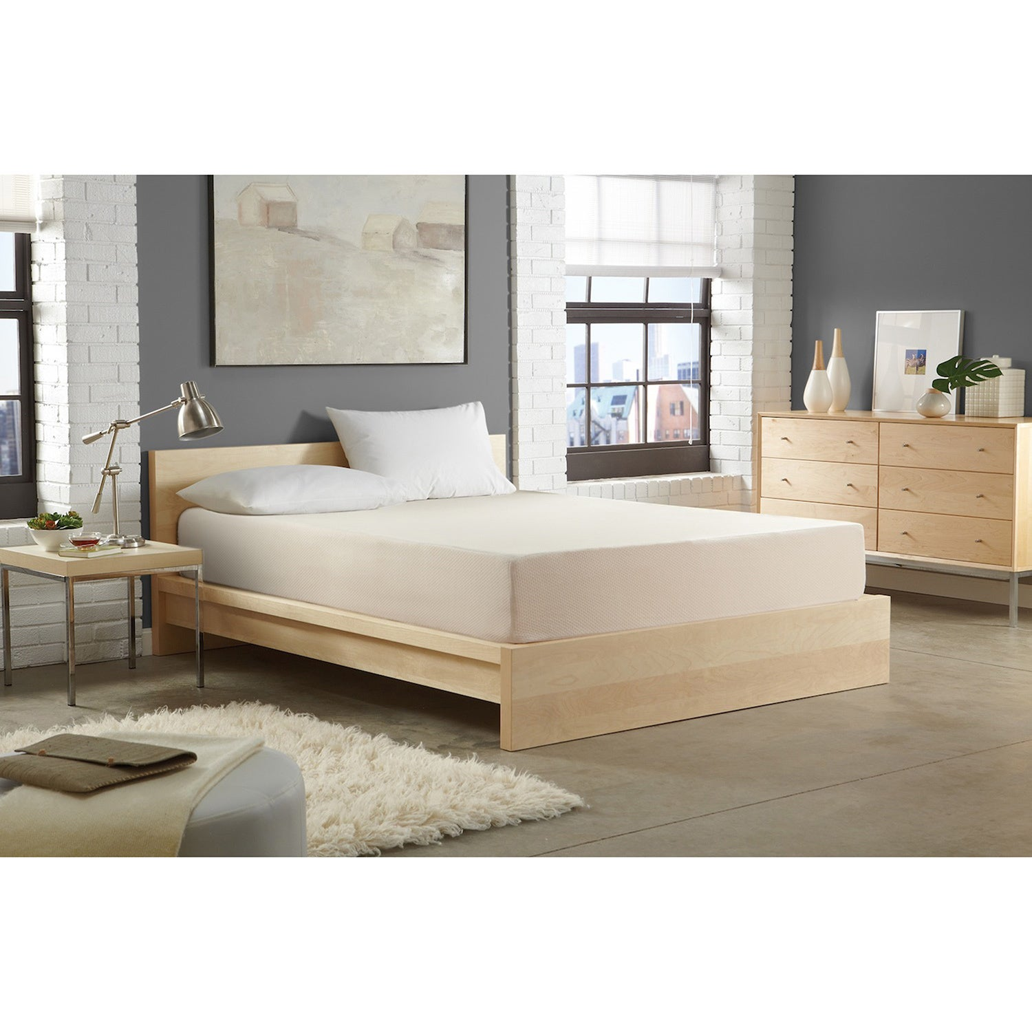 WHITE by Sarah Peyton Home Collection WHITE by Sarah Peyton 8-inch Convection Cooled Firm Support Twin-size Memory Foam Mattress at Sears.com
