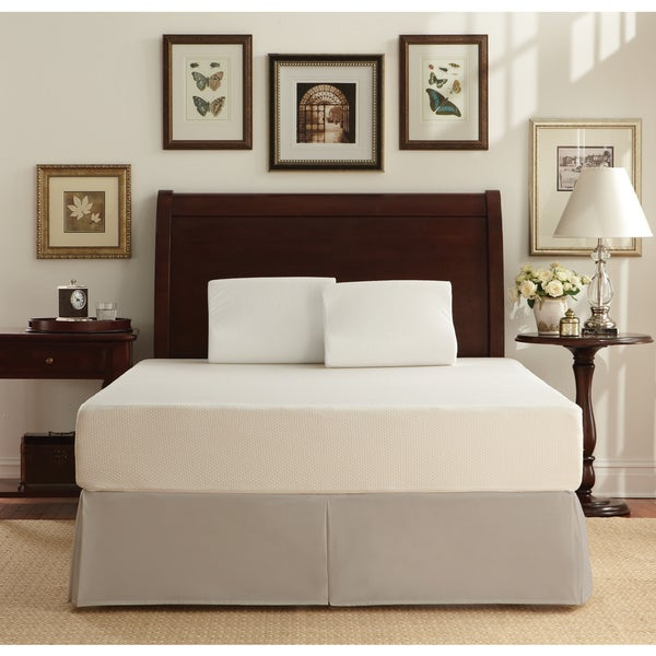 WHITE by Sarah Peyton 10-inch Traditional Plush Support Twin-size Memory Foam Mattress and Pillow Set