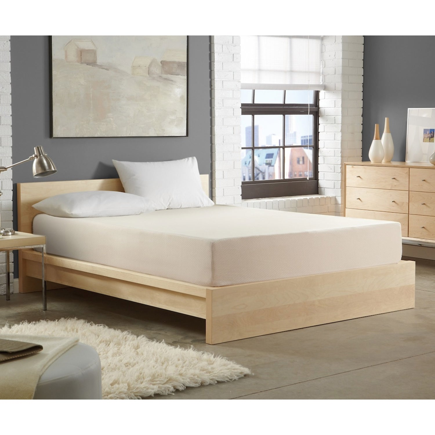 WHITE by Sarah Peyton Home Collection WHITE by Sarah Peyton 14-inch Convection Cooled Firm Support Queen-size Memory Foam Mattress at Sears.com
