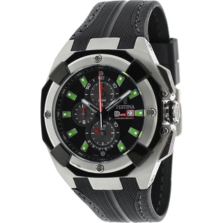 Festina Men's F16350/B Black Rubber Strap Chronograph Watch