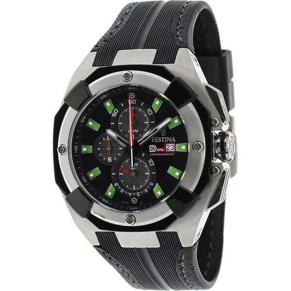 Festina Men's F16350/B Black Rubber Strap Chronograph Watch