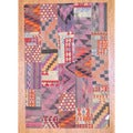 Antique Afghan Hand-woven Tribal Patchwork Kilim Multi-colored Wool Rug (5'3 x 8')