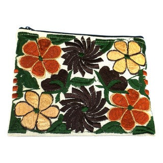 Embroidered Medium Autumn Pouch (Guatemala)