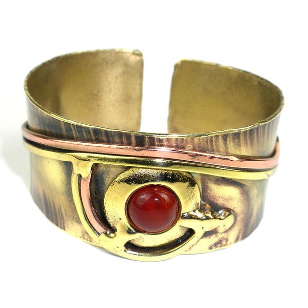 Handcrafted Carnelian Eye Cuff (South Africa)