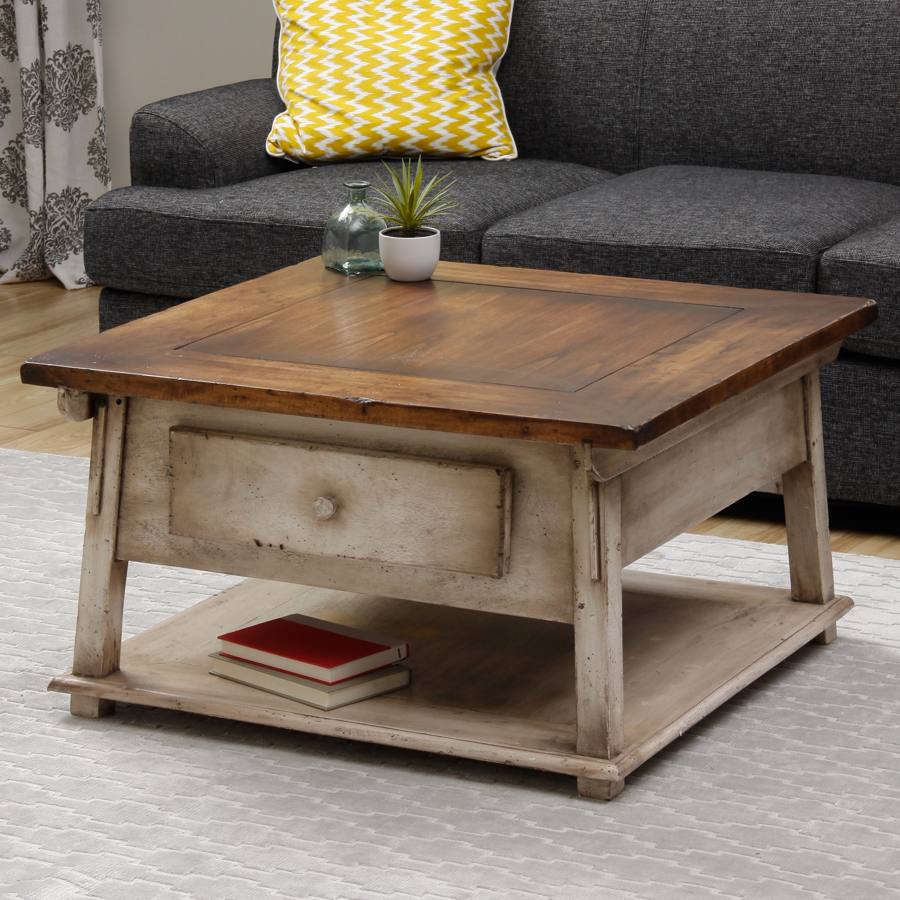 Sam shack coffee table indonesia overstock shopping for Top rated coffee tables