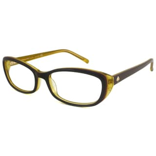 Kate Spade Readers Women's Magda Rectangular Aubergine/Yellow Reading Glasses