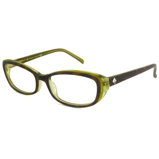 Kate Spade Readers Women's Magda Rectangular Tortoise/Green Reading Glasses