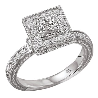 Avanti 14k Gold 1/2ct TDW Diamond Milligrain Engagement Ring (G-H, SI1-SI2)