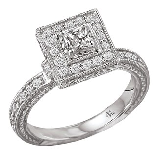 14k Gold 1/2ct TDW Diamond Milligrain Engagement Ring (G-H, SI1-SI2)