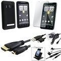 BasAcc Case/ Screen Protector/ HDMI Cable/ Holder for HTC EVO 4G