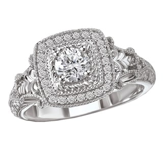 Avanti 14k Gold 1/2ct TDW Diamond Couture Halo Engagement Ring (G-H, SI1-SI2)