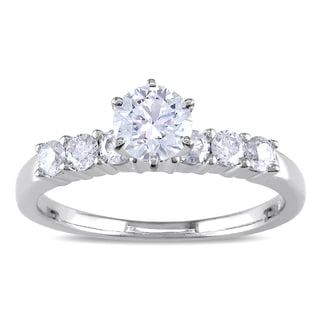 Miadora 14k White Gold 1ct TDW Diamond Engagement Ring (G-H, I1-I2) with Bonus Earrings