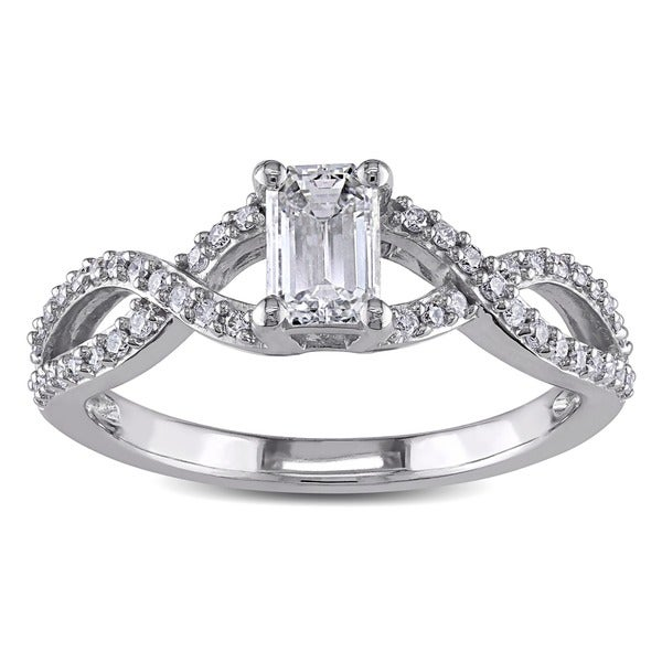 Miadora 14k White Gold 4/5ct TDW Certified Diamond Ring (G-H, I1-I2)