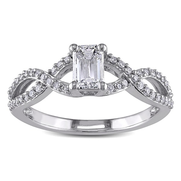 Miadora Signature Collection 14k White Gold 4/5ct TDW Certified Diamond Ring (G-H, I1-I2)