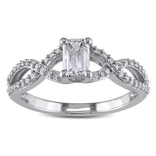 Miadora 14k White Gold 4/5ct TDW Certified Diamond Ring (G-H, I1-I2)