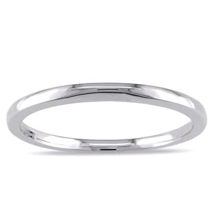 Miadora 10k White Gold Wedding Band