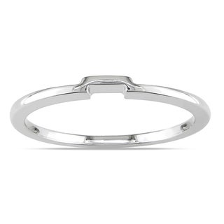Miadora 14k White Gold Wedding Band