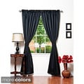 Solid Insulated Thermal Blackout 120-inch Curtain Panel Pair