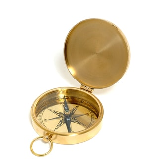 Old Modern Handicrafts Brass Replica Marine Compass