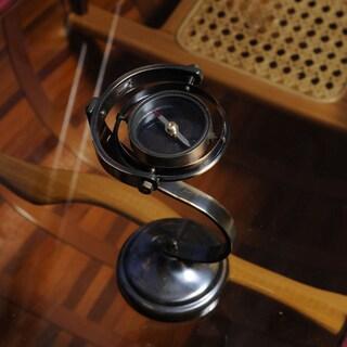 Old Modern Handicrafts Brass Gimbaled Compass Stand